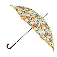 totes Auto Walker Wood Handle Oranges & Lemons Print Umbrella