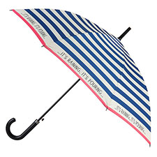 totes Ladies Nautical Slim Auto Walker Umbrella