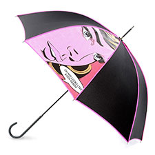 totes Ladies Elegant Pop Art Print Walker Umbrella