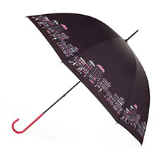 totes Ladies Elegant Street Scene Walker Umbrella