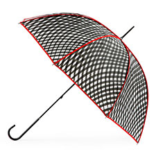 totes Ladies Elegant Wavy Check Print Walker Umbrella