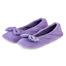 Isotoner Ladies Big Bow Ballerina Slippers