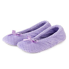 Isotoner Ladies Popcorn Ballet Slippers