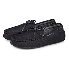 Isotoner Mens Denim Moccasin Slippers