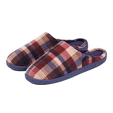 Isotoner Mens Pillowstep Fleece Mule Slippers