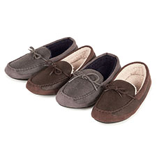 Isotoner Mens Pebble Moccosin Slippers