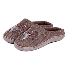 Isotoner Mens Novelty Mule Slippers