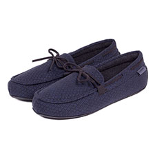 Isotoner Mens Driving Moccasin Slippers