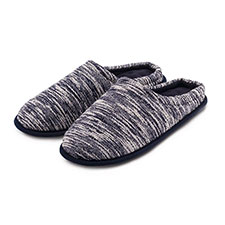 Isotoner Mens Textured Mule Slippers
