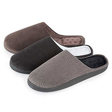 Isotoner Mens Pillowstep Cord Mule Slippers