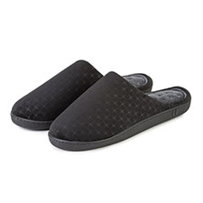 Isotoner Mens Patterned Mule Slippers