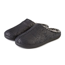 Isotoner Mens Distressed Swept Back Mule Slippers