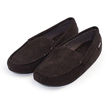 Isotoner Mens Father's Day Suedette Moccasin Slippers