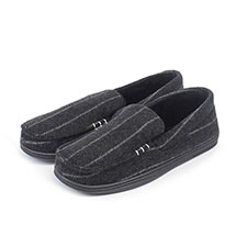 Isotoner Mens Pinstripe Woven Moccasins