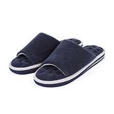 Isotoner Mens Terry Open Toe Slippers