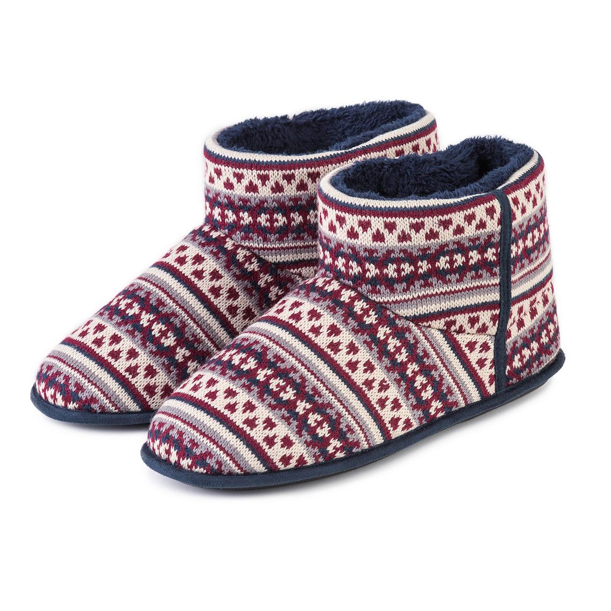 Totes Mens Fair Isle Bootie Slippers 3142L Brand New & Boxed Various Sizes