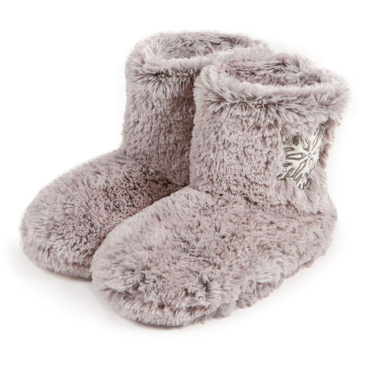 Totes Ladies Fur Bootie With Snowflake Design Slippers Ebay