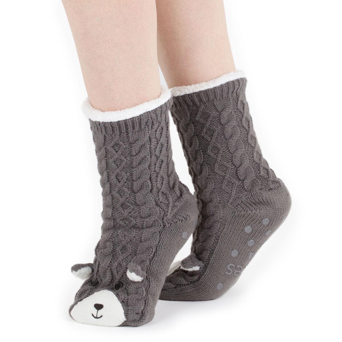 Totes Ladies Chunky Novelty Slipper Socks | EBay