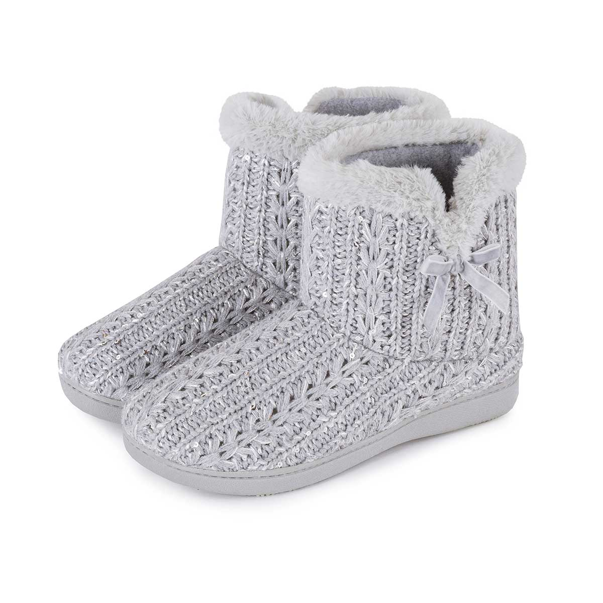 Womens Bootie Slippers Made with soft and cozy material, our women's bootie slippers are a great companion for your feet in chilly weather. Browse our vast collection of pairs of women's bootie slippers from brands like UGG, Minnetonka and MUK LUKS.