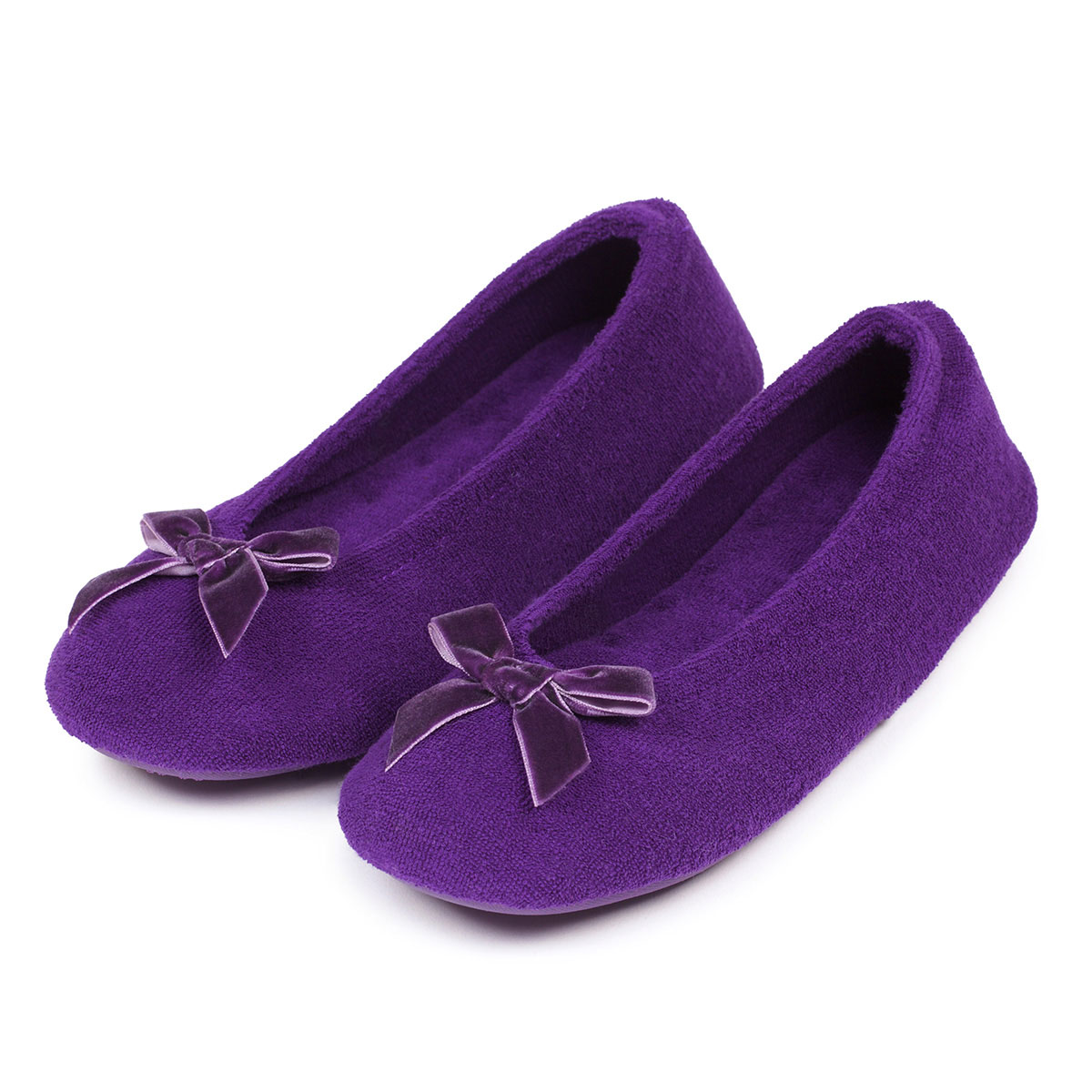 Isotoner Terry Ballerina Slippers Totes Isotoner