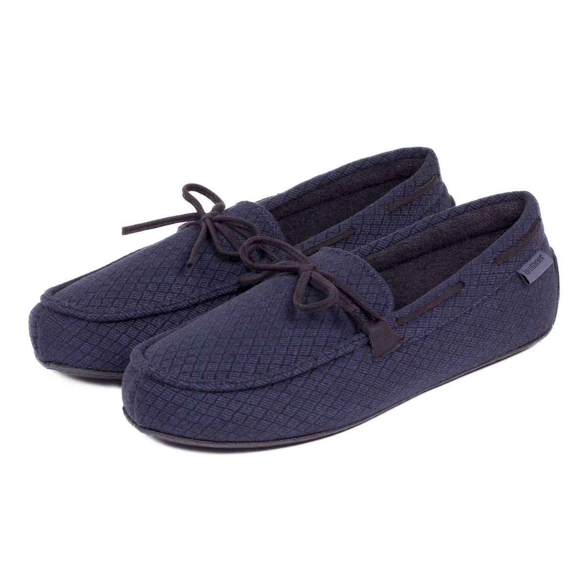Isotoner Mens Driving Moccasin Slippers Ebay