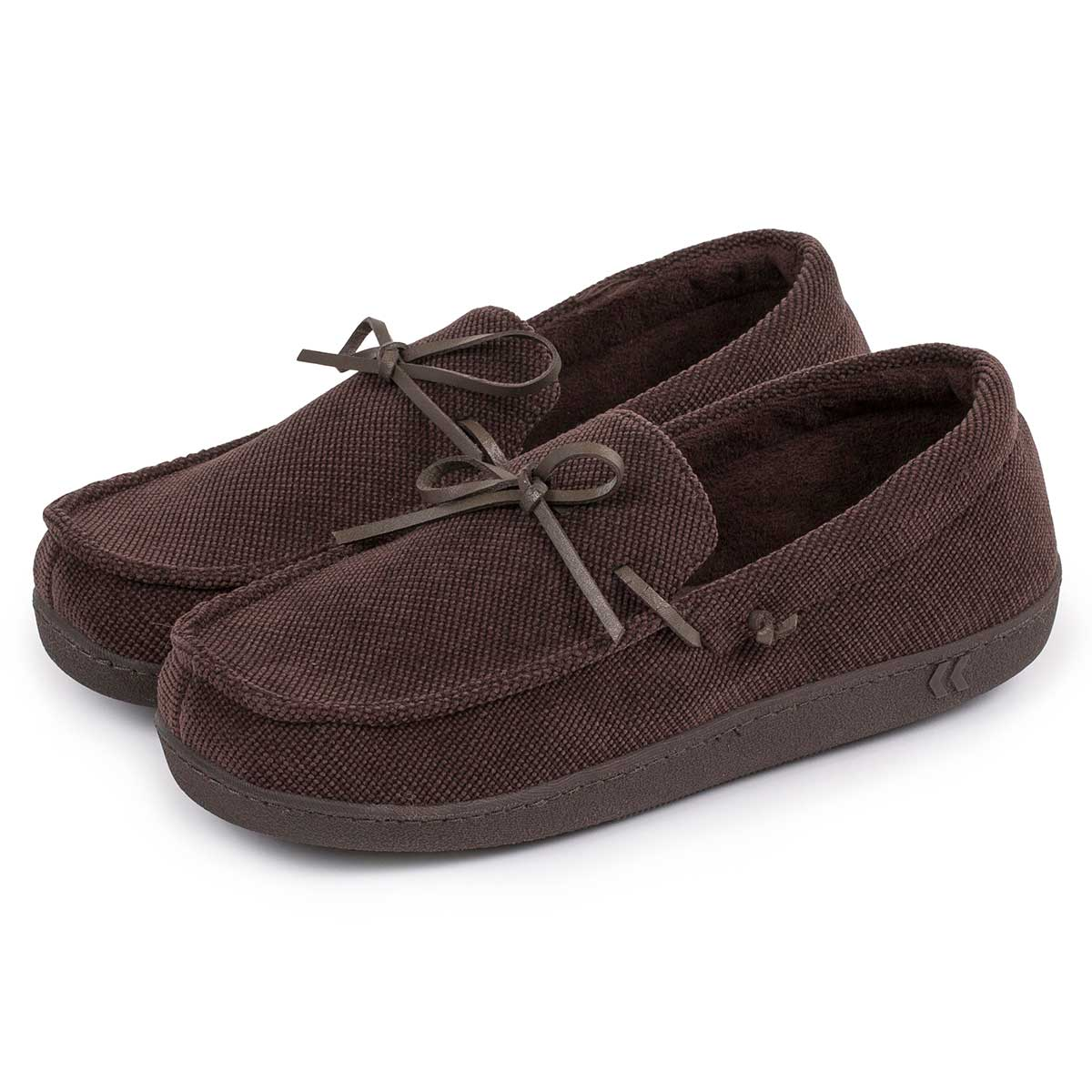 Isotoner Mens Cord Moccasin Slippers Totes Isotoner